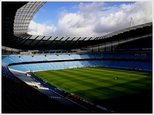 Сити оф Манчестер один из красивейших стадионов Англии